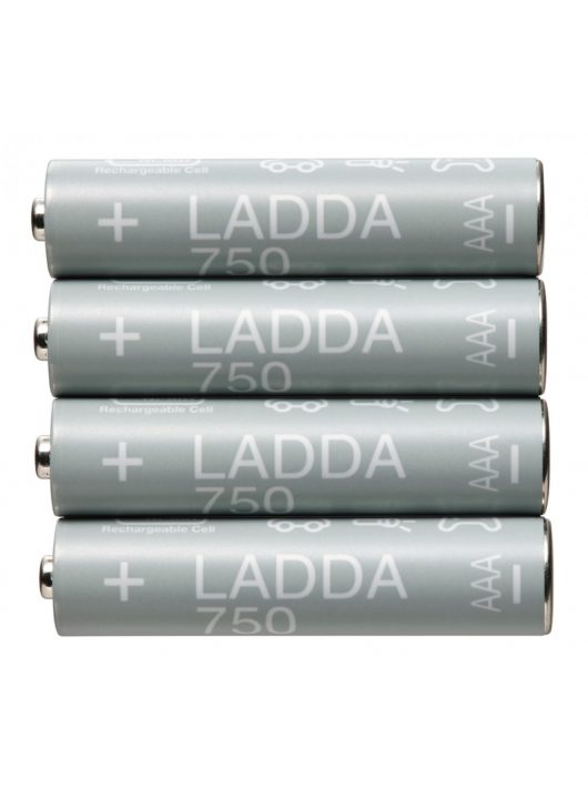 IKEA LADDA 4 db akkumulátor 1.2V 900mAh AAA