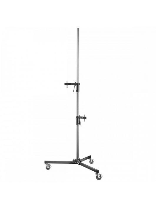 Walimex 15803 Pisztolyos állvány 2 tartóval (max. 12kg, 223cm)
