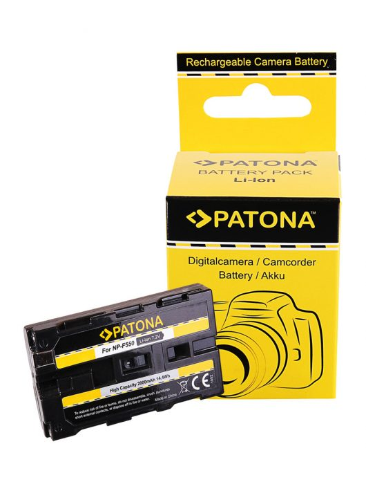 PATONA NP-F550 Akkumulátor - 1052 (Sony NP-F550 F330 F530 F750 F930 F920 F550 CCD-SC)