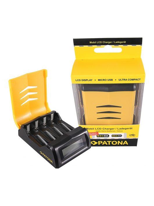 PATONA Gyorstöltő Mignon AA - Micro AAA Akkuhoz LCD töltöttség jelzővel - 1992
