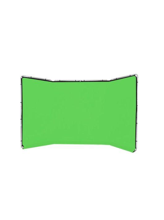 Lastolite panoráma háttér szett 4m chromakey zöld (LL LB7622)