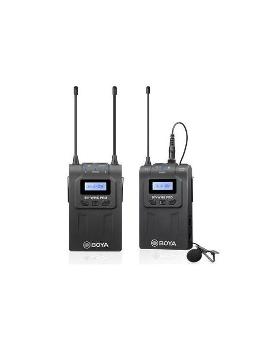 Boya BY-WM8 Pro UHF Vezeték nélküli Mikrofon Kit - 1 jeladóval