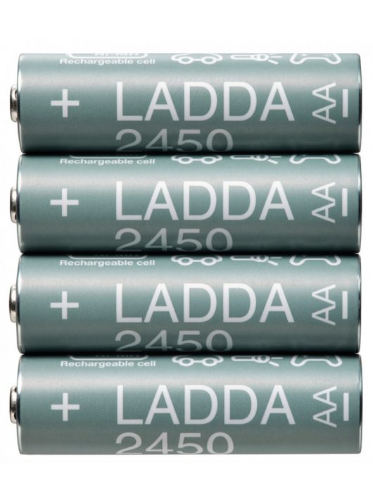 IKEA LADDA 4 db akkumulátor 1.2V 2450mAh AA