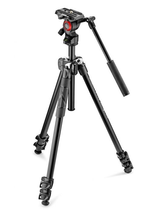 Manfrotto 290 Light kit alu állvány + Befree live fluid video fej (MK290LTA3-V)