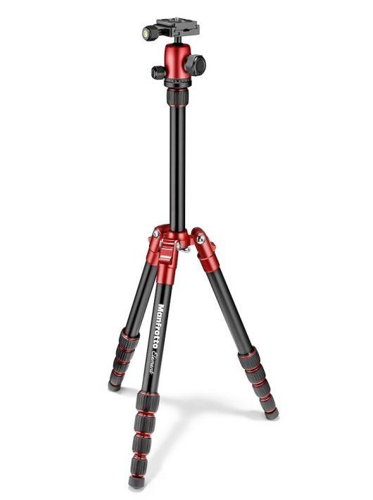 Manfrotto Element Traveller Tripod Set (rot) - Dreibenstativ mit Kugelkopf (MKELES5RD-BH)
